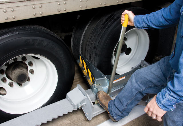 Secure Dock Vehicles With Wheel Restraints From Serco
