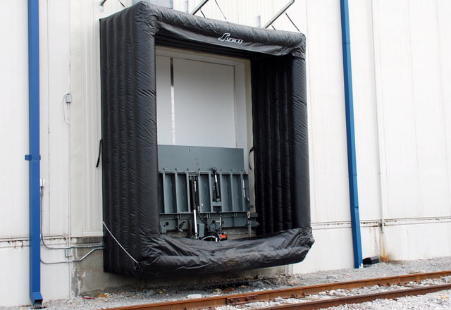 Serco Inflatable Rail Shelters & Keep Out the Elements With Dock Seals and Shelters By Serco